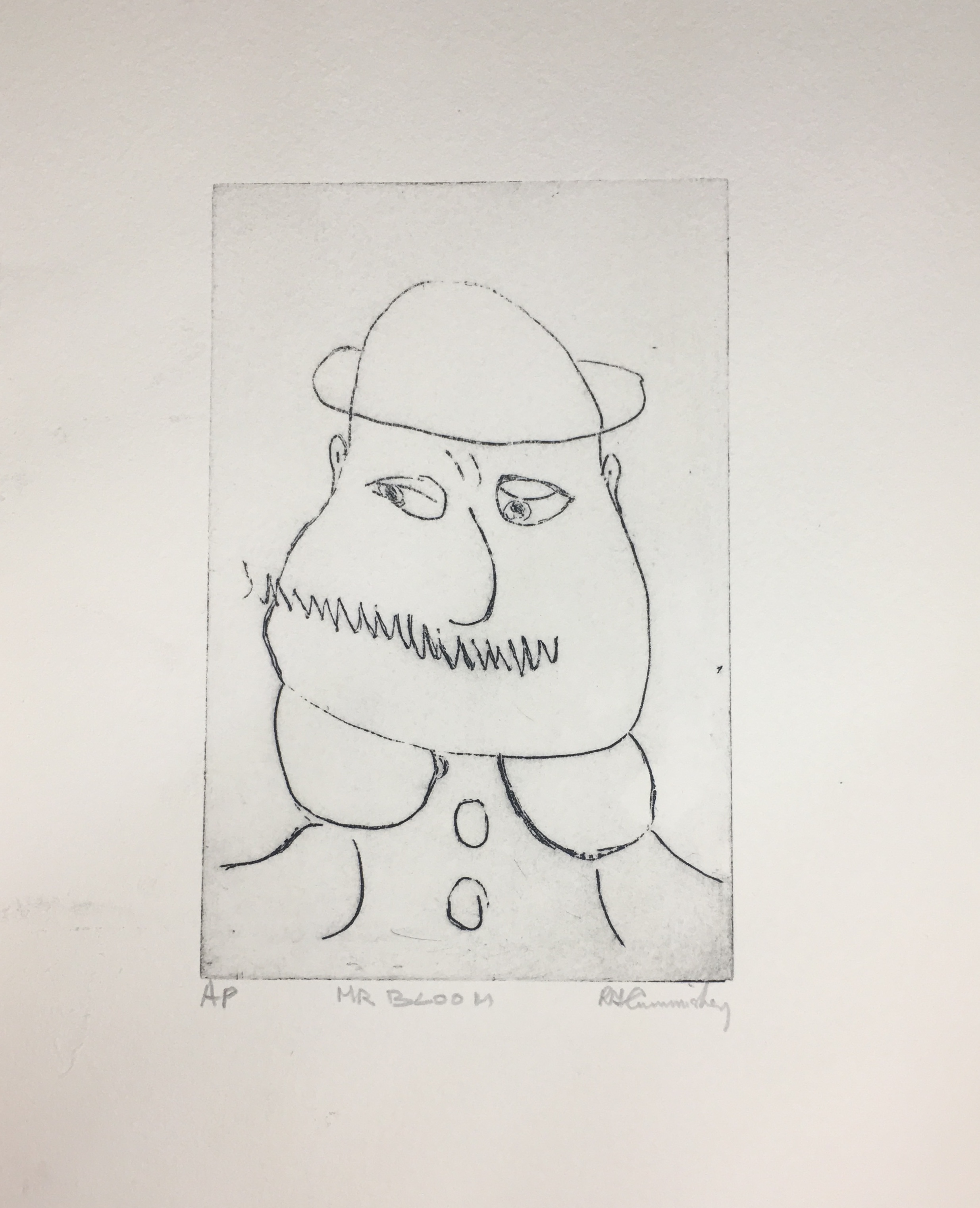 Mr Bloom, etching.