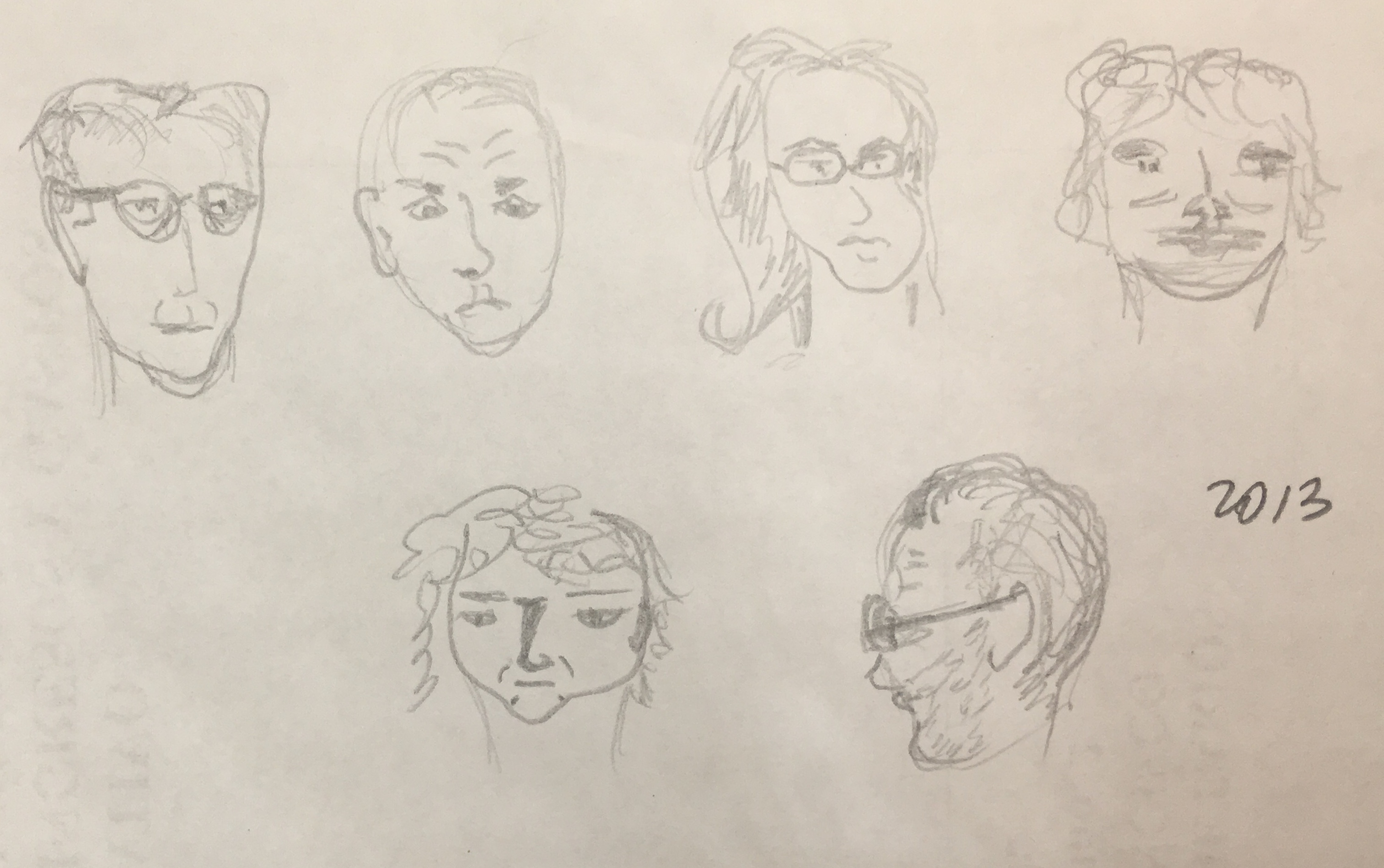 La Reunion - pencil drawings