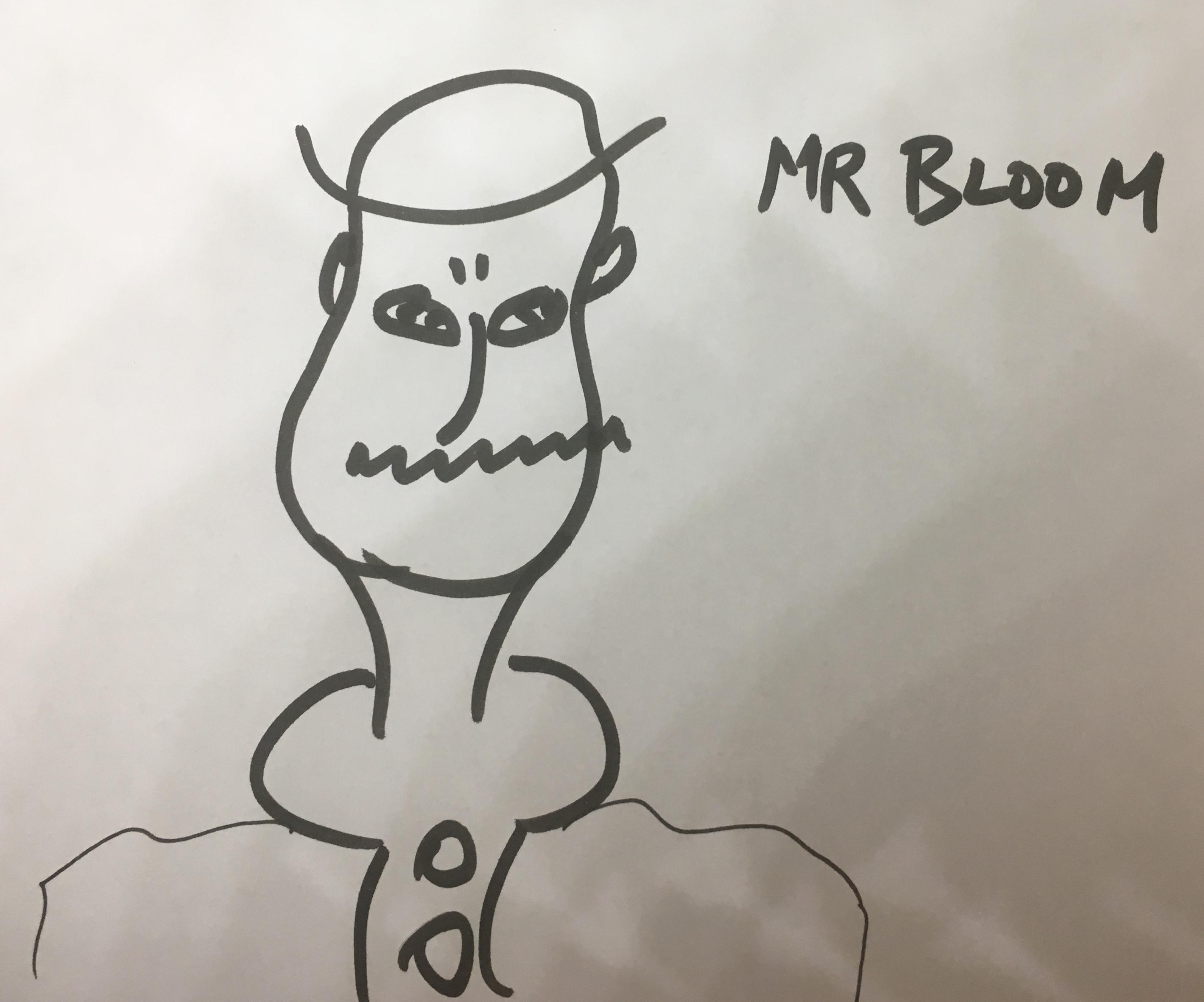 Mr Bloom after James Joyce.