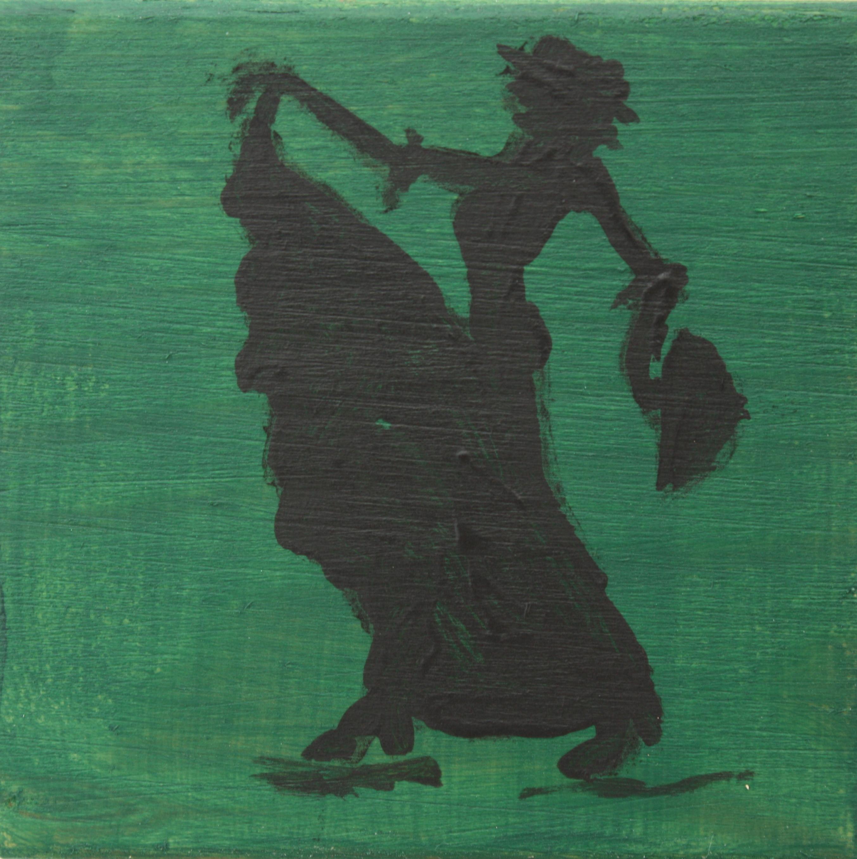 Flamenco dancer green