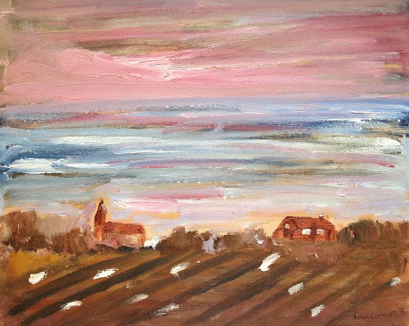Sky over Ireland's Wild Atlantic Village. Roger Cummiskey