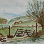 c6-country-gate. C6€260 25 x 17cms 10 x 07ins