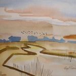 w12-heading-home. Wild Geese€180 5 x 7 ins.